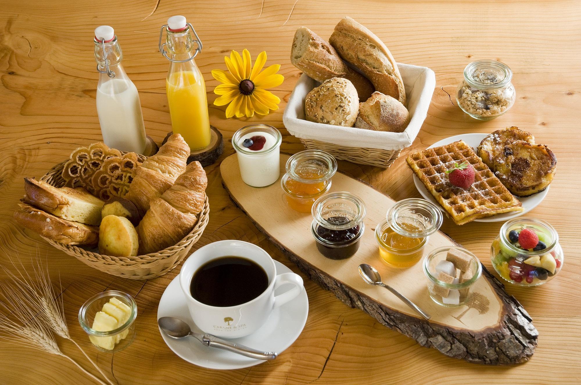 Petit déjeuner Cabane & Spa Mirabel